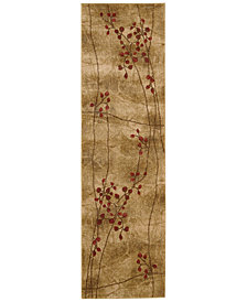 "CLOSEOUT! Nourison Area Rug, Somerset Collection ST74 Latte Blossom 2' x 5'9"" Runner Rug"