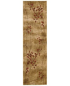"CLOSEOUT! Nourison Area Rug, Somerset Collection ST74 Latte Blossom 2'3"" x 8' Runner Rug"