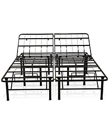 "Adjustable 14"" Metal Bed Frame- Queen"