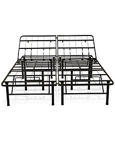 Sleep Trends Adjustable 14-Inch Metal Bed Frame, Assembly Required, Quick Ship, Created for Macy's- Queen
