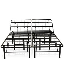 Sleep Trends Adjustable 14-Inch Metal Bed Frame, Assembly Required, Quick Ship, Created for Macy's