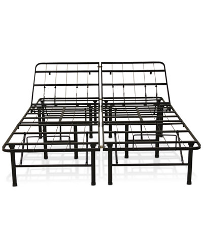 Sleep Trends Adjustable 14-Inch Metal Bed Frame, Assembly Required, Quick Ship, Created for Macy's- Twin