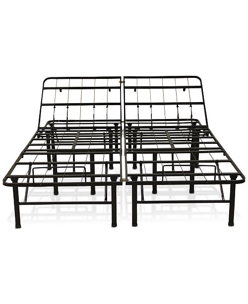 Sleep Trends Adjustable 14 Inch Metal Bed Frame Assembly Required