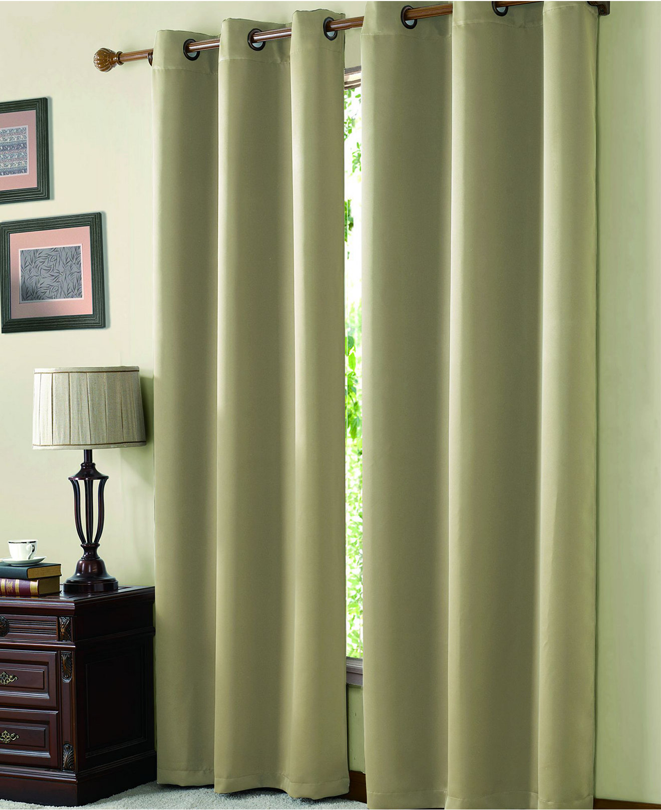 White lace curtains 63 inches - Victoria Classics Mckenzie Twill Blackout Panel Collection
