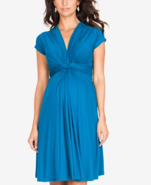 Vintage Style Maternity Clothes Seraphine Maternity Twist-Front Dress $39.99 AT vintagedancer.com