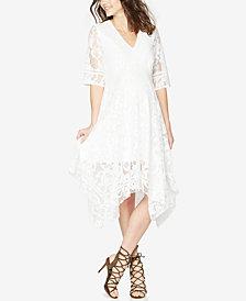 Taylor Maternity Lace Handkerchief-Hem Dress