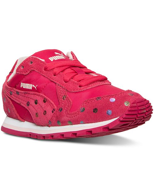 check out 4fa82 d2d78 ... Puma Little Girls  ST Runner Dotfetti Casual Sneakers from Finish Line  ...
