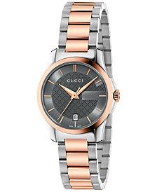 Gucci Women's Swiss G-Timeless Two-Tone PVD Stainless Steel Bracelet Watch 27mm YA126527