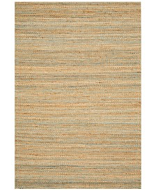 D Style Natural Jute Teal 8' x 10' Area Rug
