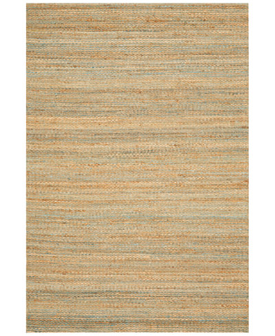D Style Natural Jute Teal Area Rugs