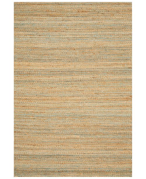 D Style CLOSEOUT! Natural Jute Teal 9' x 13' Area Rug