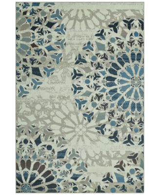 """CLOSEOUT! Menagerie MEN567 Ivory 3'3"""" x 5'1"""" Area Rug"""