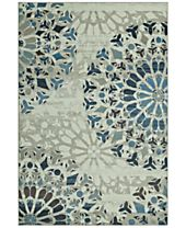 CLOSEOUT! D Style Menagerie MEN567 Ivory Area Rugs