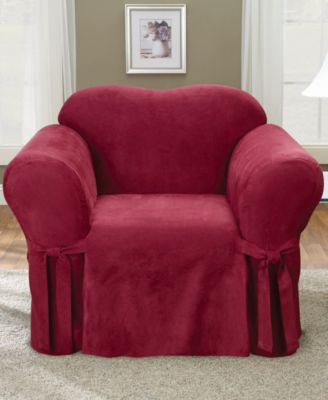 Soft Faux Suede Chair Slipcover