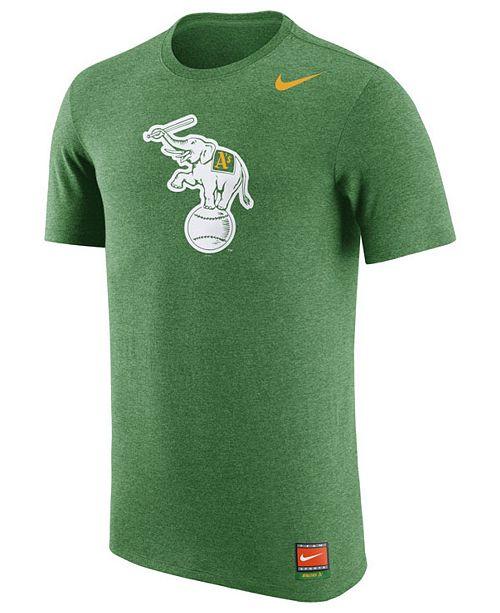 68e1a9db3db09 ... Nike Men s Oakland Athletics Coop Tri-Blend T-Shirt Elephant ...