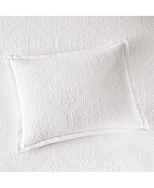 Martha Stewart Collection  100% Cotton Castle Matelassé Standard Sham, Created for Macy's