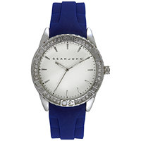 Sean John Blue Silicone Strap 48mm Men's Watch
