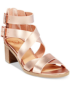 Material Girl Danee Block Heel City Sandals, Created for Macy's