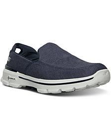 Skechers Men's GOwalk 3 Linen Walking Sneakers from Finish Line