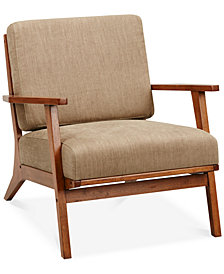 Axis Exposed Wood Accent Chair, Quick Ship