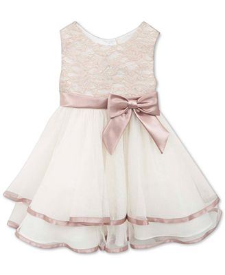 Rare Editions Baby Girls' Tiered Lace Dress - Kids & Baby - Macy's