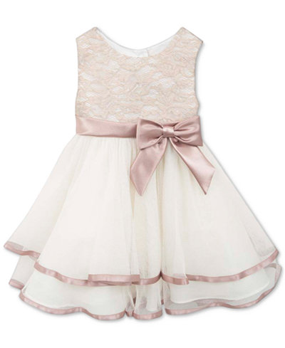 Rare Editions Tiered Lace Dress Baby Girls Kids Amp Baby