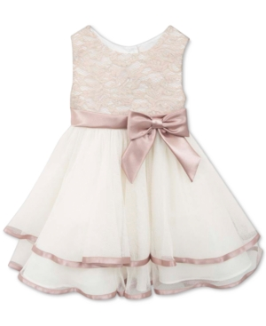 Rare Editions Baby Girls Tiered Lace Dress