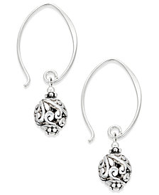 Jody Coyote Filigree Orb Drop Earrings in Sterling Silver