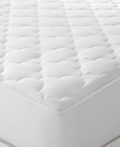 Sleep Philosophy WonderWool King Mattress Pad, Moisture Wicking Odor Resistant Fill, Stretch Knit Skirt for Secure Fit