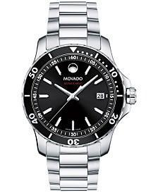 Movado Men's Swiss Series 800 Stainless Steel Bracelet Watch 40mm 2600135