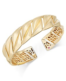 The Fifth Season by Roberto Coin 18k Gold-Plated Sterling Silver Bangle Bracelet 7771137SYBA0