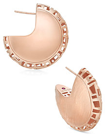 The Fifth Season by Roberto Coin 18k Rose Gold-Plated Sterling Silver Hoop Earrings 7771119SXER0
