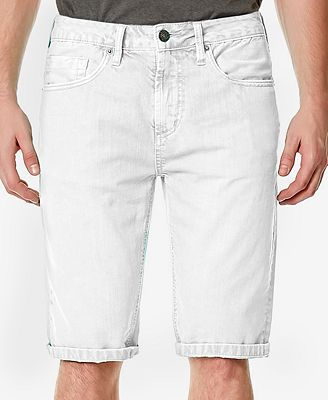 Buffalo David Bitton Men's Parker White Denim Shorts - Shorts ...
