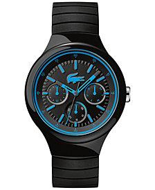 Lacoste Men's Borneo Black Silicone Strap Watch 44mm 2010869