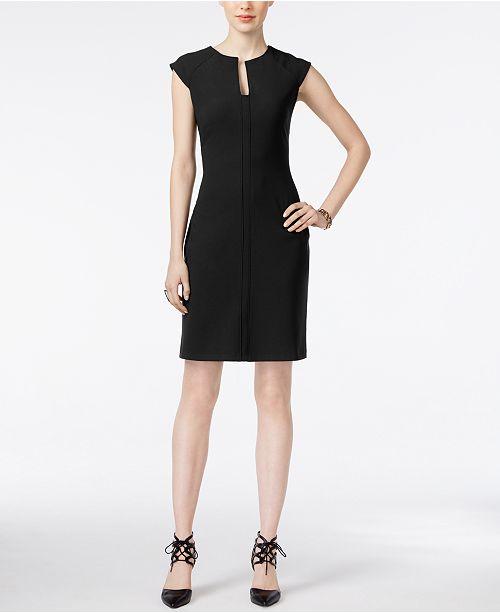 Bar Iii Split Neck Bodycon Dress Created For Macys Dresses