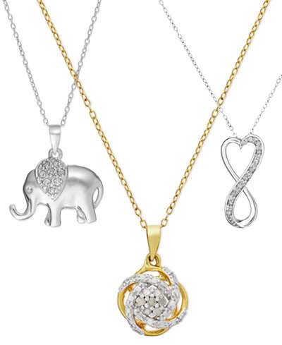 Diamond Pendant Necklace (1/10 ct. t.w.) Collection