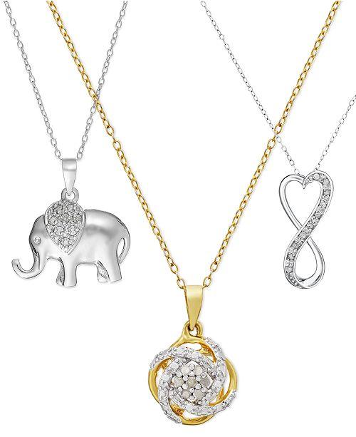 Diamond Pendant Necklace (1/10 ct. t.w.) Collection