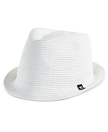 B BLOCK Headwear Men's Braided Paper Straw Fedora