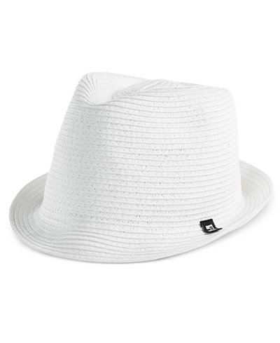 B BLOCK Headwear Men's Braided Paper Straw Fedora