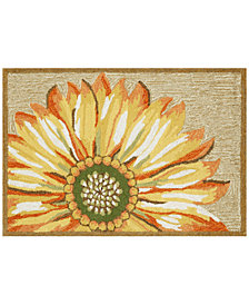 Liora Manne Front Porch Indoor/Outdoor Sunflower Yellow Area Rug