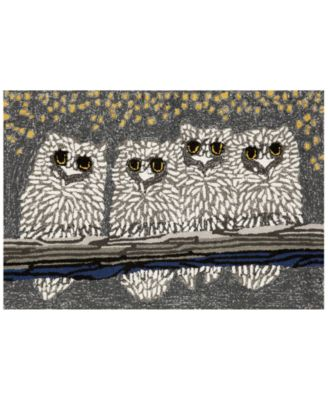 Liora Manne Front Porch Indoor/Outdoor Owls Night 2'6'' x 4' Area Rug