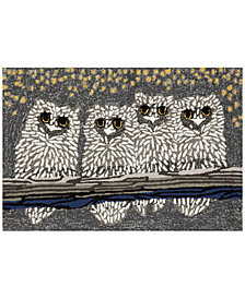 Liora Manne Front Porch Indoor/Outdoor Owls Night Area Rug