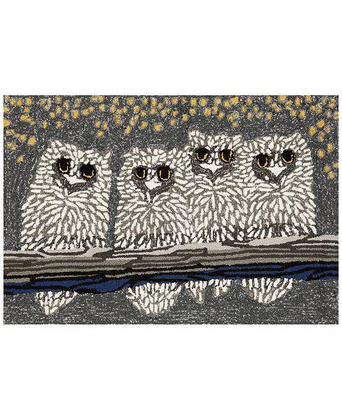 Liora Manne' Liora Manne Front Porch Indoor/Outdoor Owls Night Area Rug