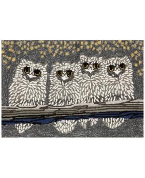 "Liora Manne Front Porch Indoor/Outdoor Owls Night 2'6"" x 4' Area Rug"