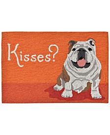 Liora Manne Front Porch Indoor/Outdoor Wet Kiss Orange 2'6'' x 4' Area Rug