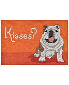 Liora Manne Front Porch Indoor/Outdoor Wet Kiss Orange Area Rug