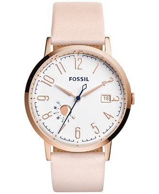 fossil s vintage muse blush leather 40mm