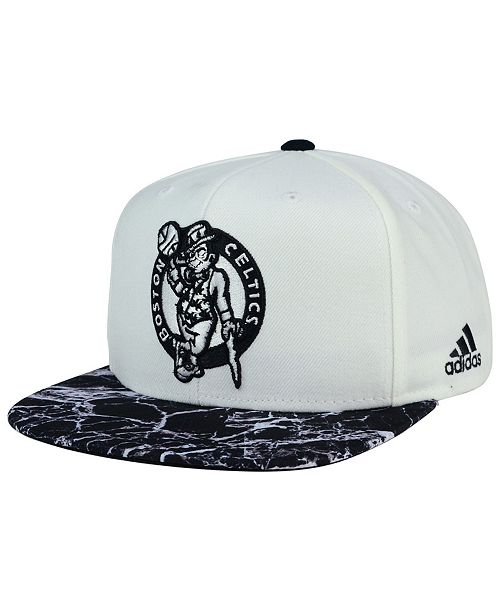 adidas Boston Celtics White Marble Snapback Cap