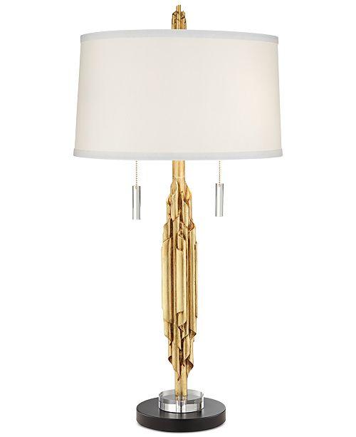 Pacific coast closeout gold ribbon kimbra table lamp lighting main image aloadofball Gallery