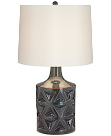 kathy ireland home by Pacific Coast Geo Ceramic Starburst Table Lamp